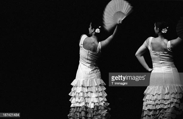 flamenco lace fan - flamenco stock photos and pictures