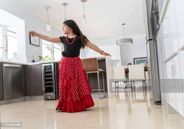 flamenco practice is now at home - traditional dancing stock pictures, royalty-free photos & images