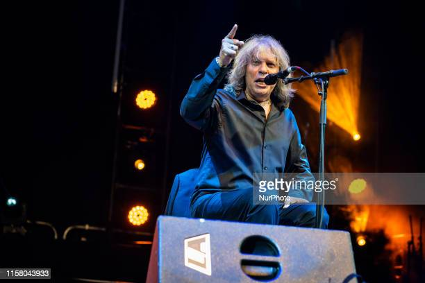 Flamenco singer José Mercé during his concert at the Porticada square in Santander Spain on 25 July 2019 on the occasion of the Santiago festival in...