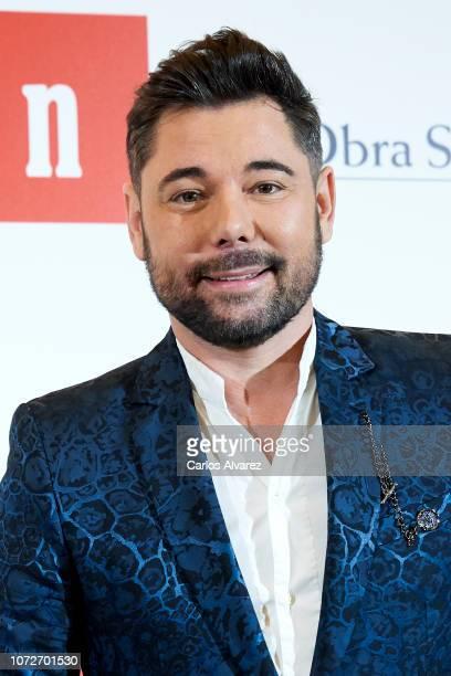 Flamenco singer Miguel Poveda attends 'Estrellas por la Ciencia' gala at the Canal Theater on November 26 2018 in Madrid Spain