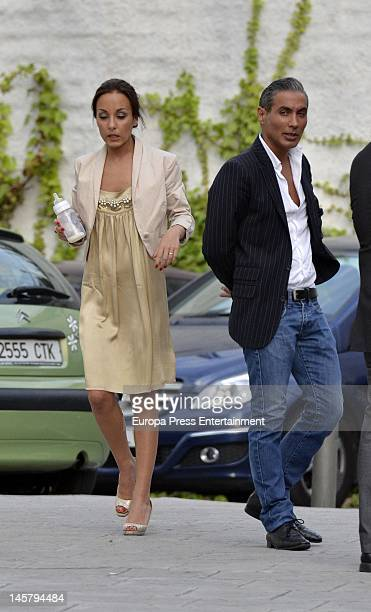 Flamenco singer Pitingo his wife Veronica Fernandez Prieto and their son Manuel are seen on May 11 2012 in Madrid Spain
