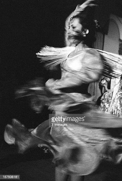 flamenco spin dancer - flamenco stock photos and pictures