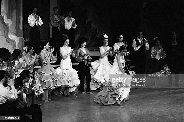 Flamenco Troop Of Luisillo At The Theater Des Champselysees Paris 3 février 1967 Représentation de la troupe de flamenco de LUISILLO au théâtre des...