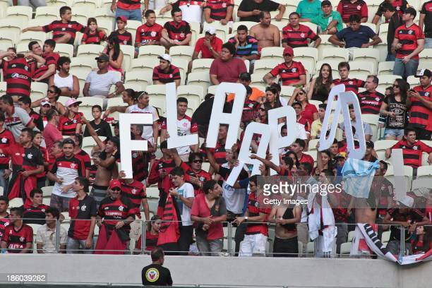 Flamengo fans during the match between Flamengo and Portuguese for the Brazilian Championship Serie A in 2013 Castellan Arena stadium on October 27...