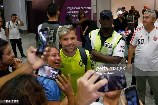 Flamengo team arrives after playing the FIFA Club World Cup Qatar 2019 Final Against Liverpool at Tom Jobim Internacional Airport on December 22 2019...