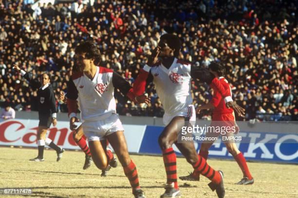 Flamengo's Adilio celebrates scoring