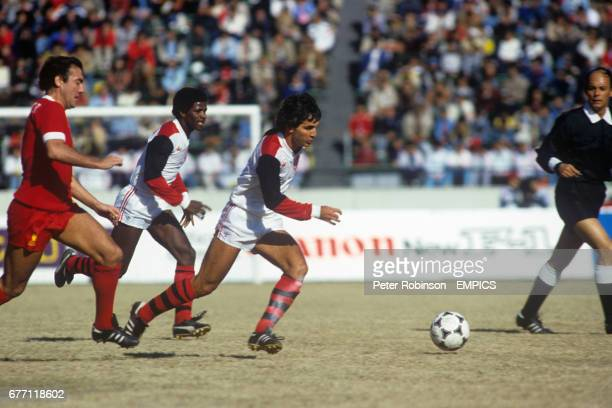 Flamengo's Tita gets away from Liverpool's Ray Kennedy