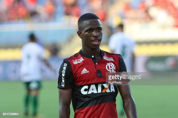 Flamengo's Vinicius Junior during Carioca Serie A football match between Flamengo and Portuguesa at Estadio da Gavea in Rio de Janeiro Brazil on 18...