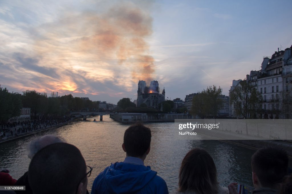 Fire At Notre Dame Cathedral In Paris : News Photo