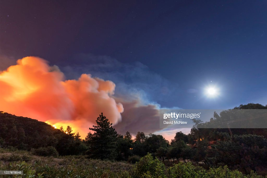 Flames Approach On A Western Front Of The Apple Fire Consuming Brush News Photo Getty Images