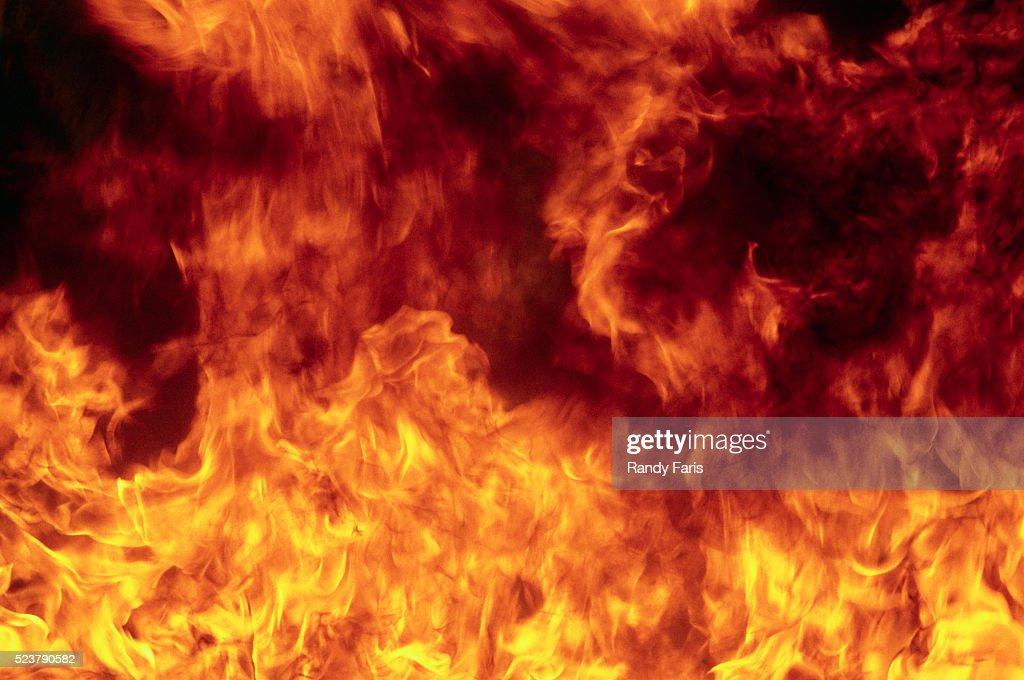 Flames Burning : Stock Photo