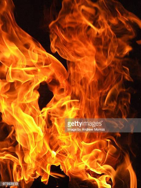 Flames From A Wood Fire
