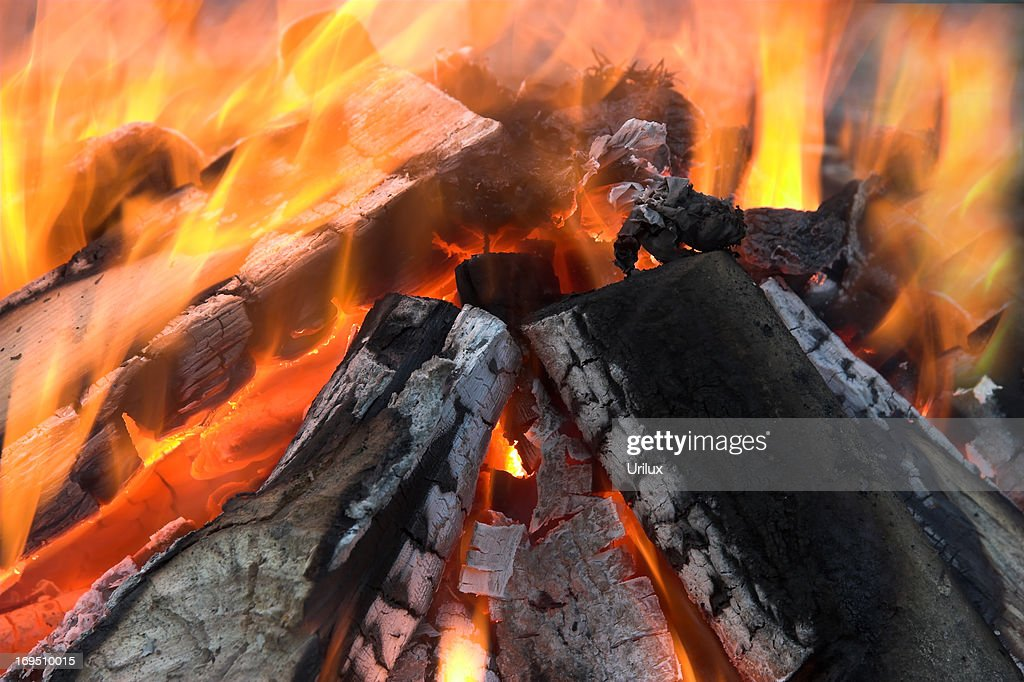 Flames in mighty motion : Stock Photo