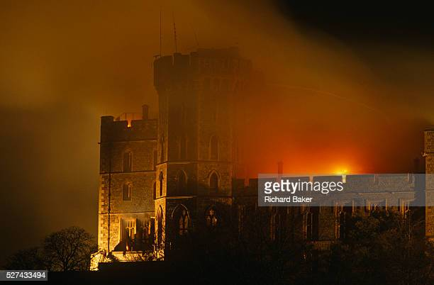 Flames lick the roof of the Queen's private and state apartments in Windsor Castle as smoke darkens further the night sky We see the most northerly...