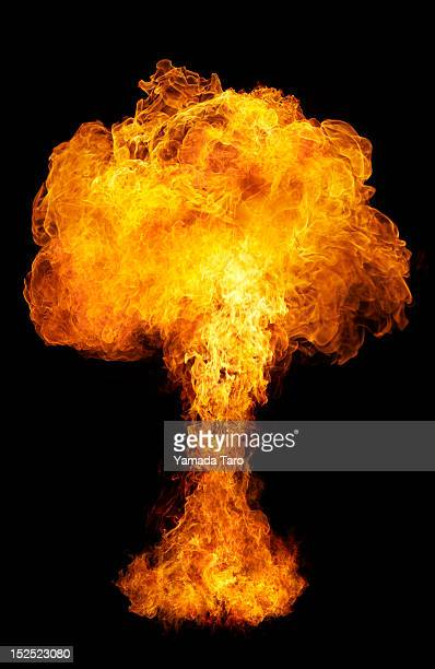 flames of fire on black background - exploding stock pictures, royalty-free photos & images