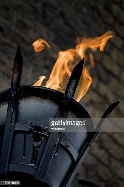Flaming Korb für Beleuchtung