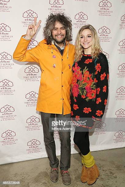Flaming Lips lead singer Wayne Coyne and Katy Weaver attend 2015 Tibet House US Benefit Concert after party at Metropolitan West on March 5 2015 in...