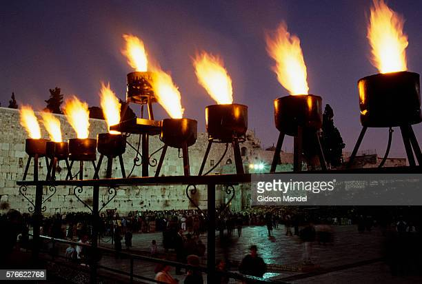 Flaming Menorah at Western Wall