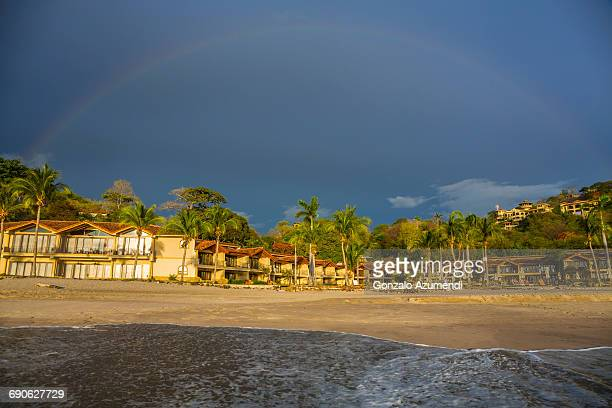 flamingo beach in guanacaste. - guanacaste stock pictures, royalty-free photos & images