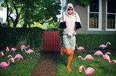 Flamingo Man Lawn