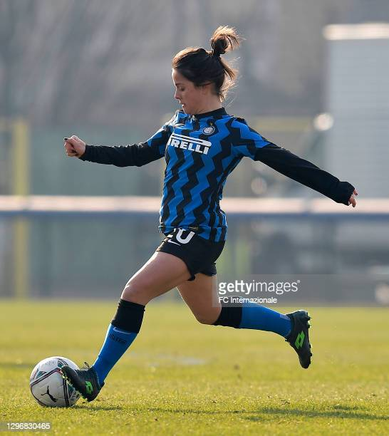 Flaminia Simonetti of FC Internazionale in action during the Women Serie A match between FC Internazionale and Juventus at Suning Youth Development...