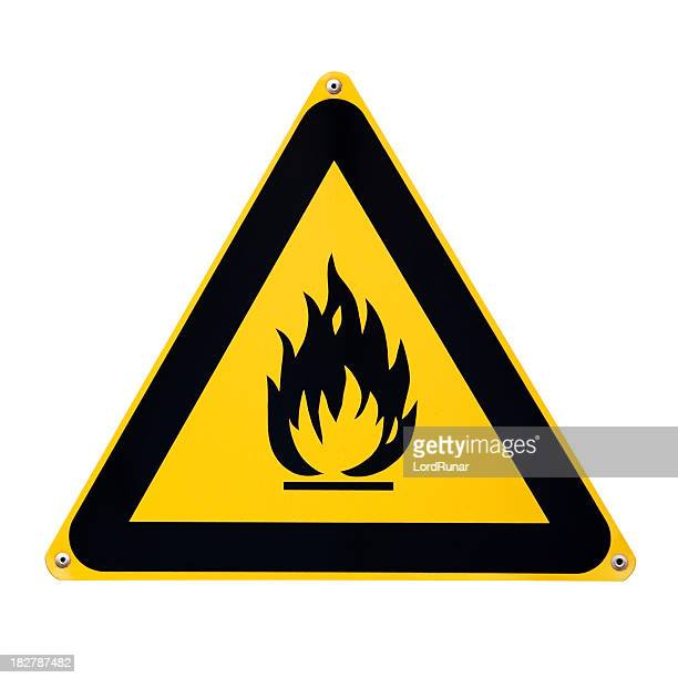 flammable sign - flammable stock photos and pictures