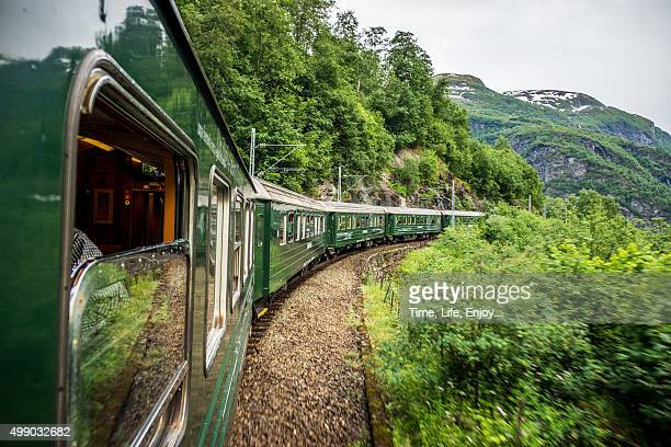 flam-myrdal train tour course - railroad stock pictures, royalty-free photos & images