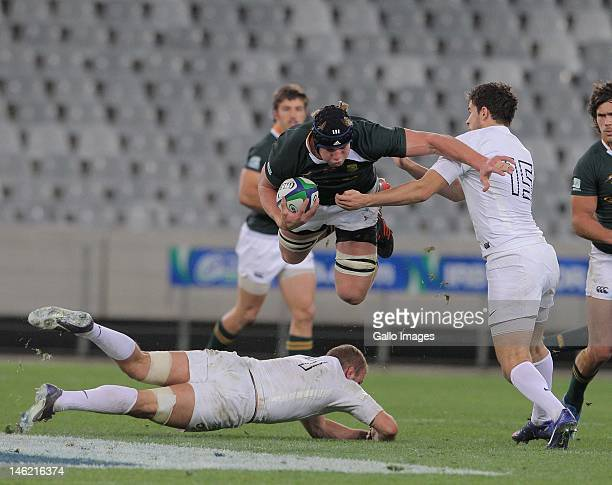 U/20 flank Pieter Steph du Toit during the IRB U/20 Junior Championship match between South Africa and England from Cape Town Stadium on June 12 2012...