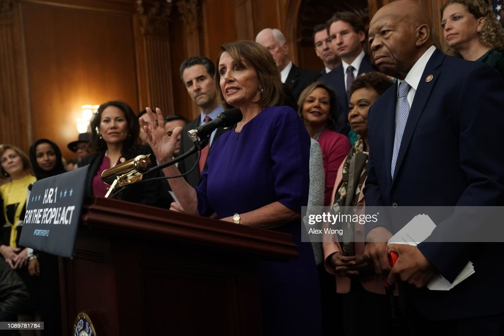 """House Speaker Nancy Pelosi And House Dems Introduce Democracy Reform Agenda, The """"For The People Act"""" : News Photo"""