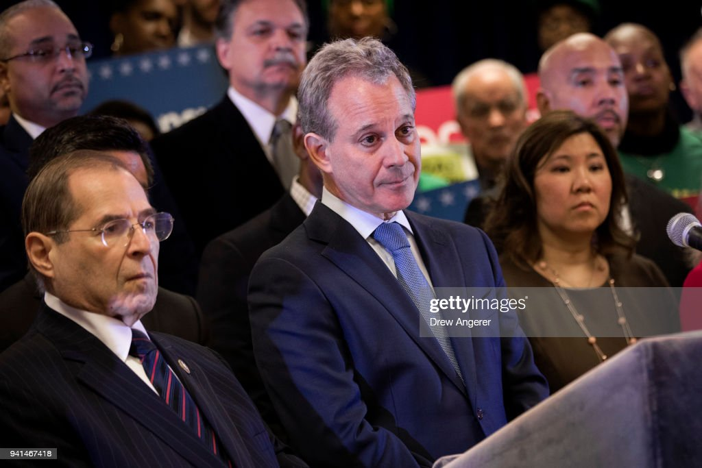 NY Attorney General Schneiderman Files Suit Against Trump Administration Over Census : News Photo