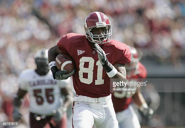 Flanker Keith Brown of the University of Alabama Crimson Tide carries the ball against the University of South Carolina Gamecocks during the game on...