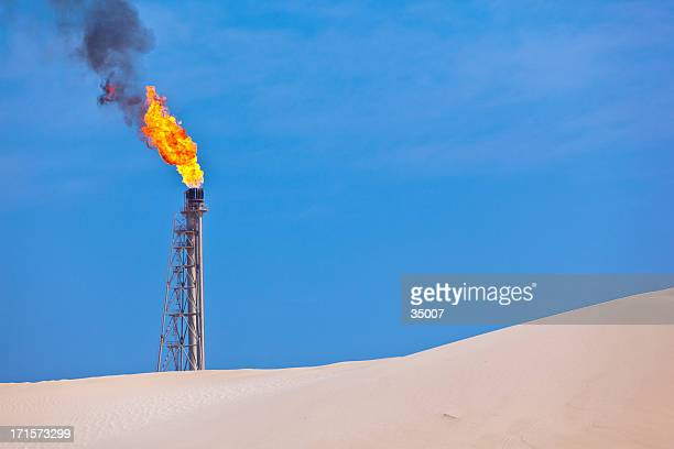 flare stack oil industry - flare stack stock photos and pictures