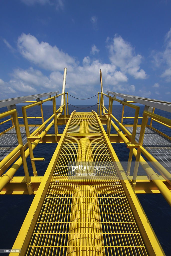 Flare Station In Oil And Gas Construction Stock Photo   Getty Images