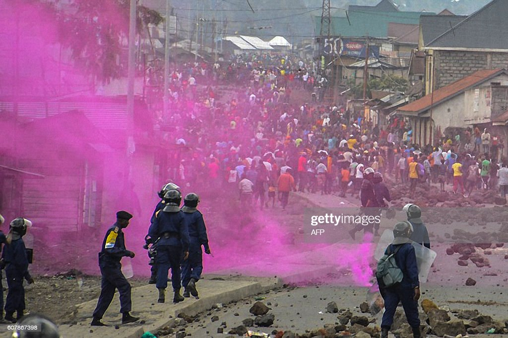 TOPSHOT-DRCONGO-POLITICS-UNREST-DEMO : News Photo