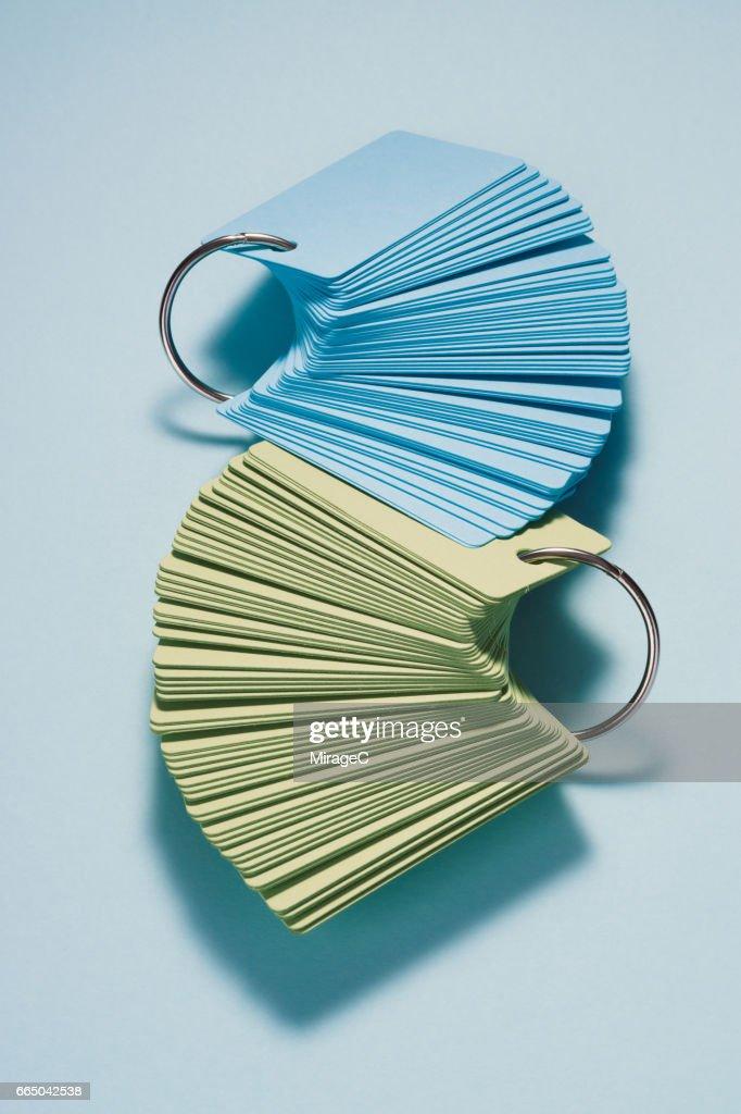 Flash Card Stacking : Stock Photo