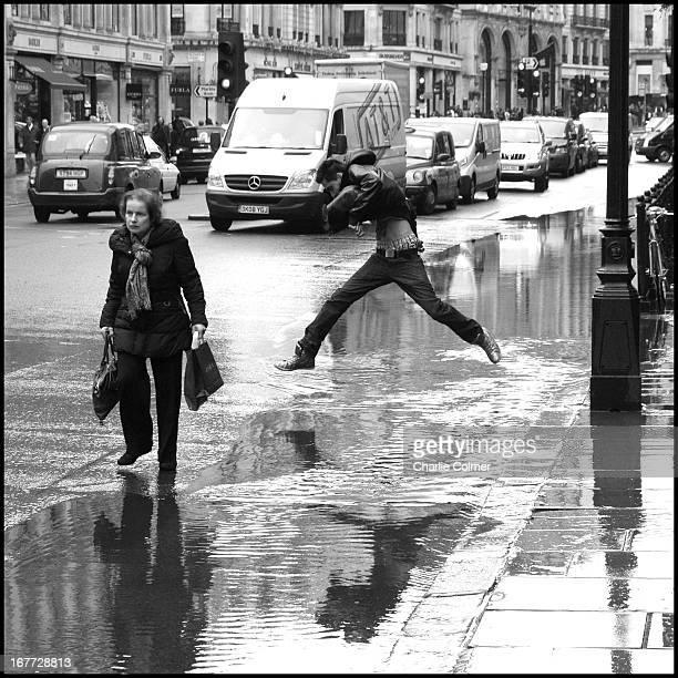 Flash flood in Regents Street.