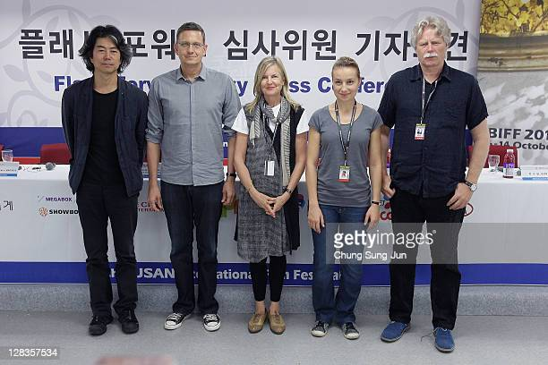 Flash Forward Jury Jeon SooIl Thomas Hailer Head of Jury Gillian Armstrong jury Anamaria Marinca and Fridrik Thor Fridriksson attend the Flash...