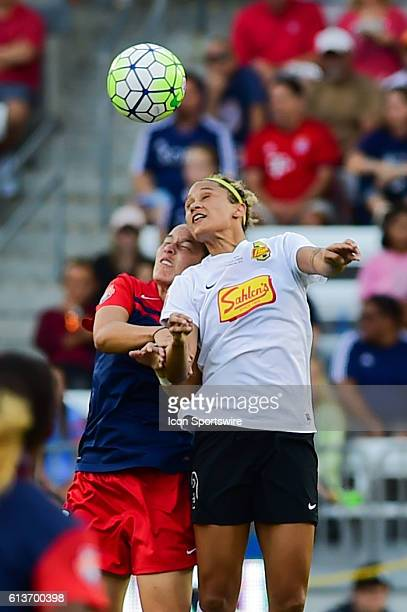 Flash forward Lynn Williams wins the header during the 2016 NWSL Championship soccer match between WNY Flash and Washington Spirit at BBVA Compass...