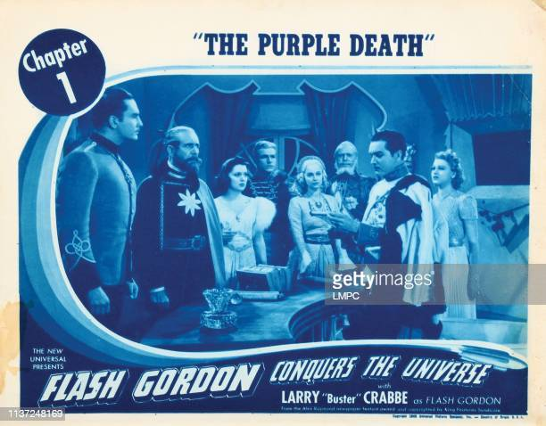 Flash Gordon Conquers The Universe US lobbycard from left Lee Powell Frank Shannon Caro Hughes Buster Crabbe Anne Gwynne Roland Drew 1940