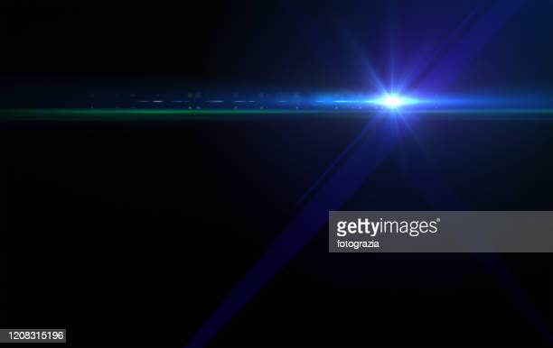 flash light and lens flare - blendenfleck stock-fotos und bilder