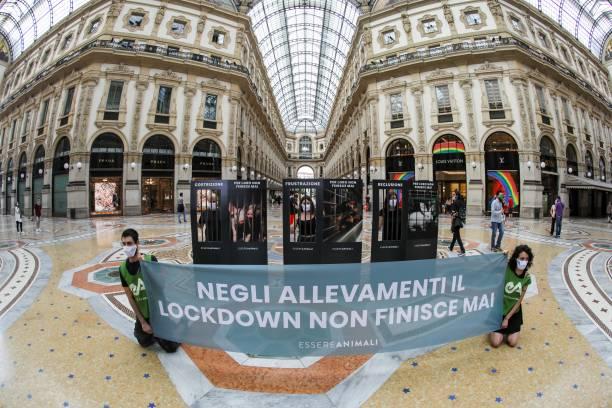 ITA: Flash Mob Of 'Essere Animali' In Milan