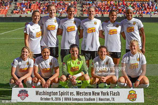 Flash team photo before the 2016 NWSL Championship soccer match between WNY Flash and Washington Spirit at BBVA Compass Stadium in Houston Texas