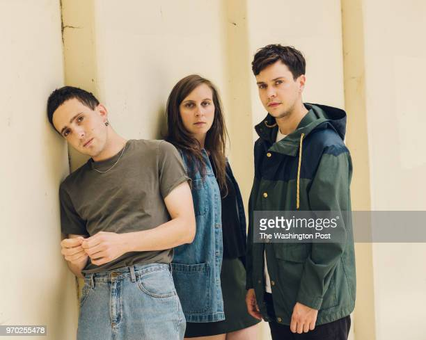 Flasher from left Daniel Saperstein Emma Baker and Taylor Mulitz in Washington DC Monday June 4 2018