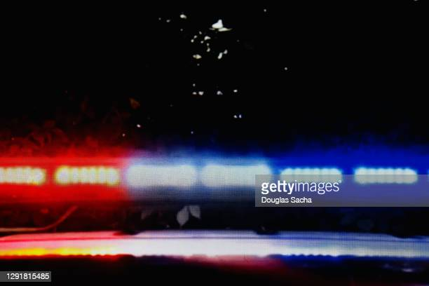 flashing led police car lights - streaker stock pictures, royalty-free photos & images