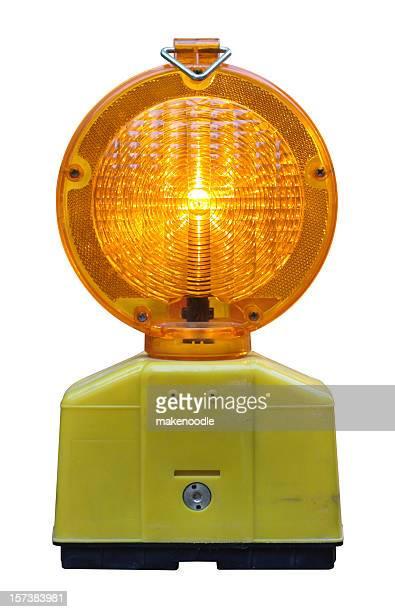 Blinken Straßenrand Licht, isoliert, clip Pfad