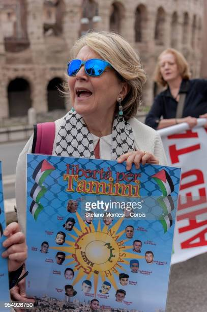 A flashmob at the Colosseum for the freedom and dignity of Palestinian political prisoners held in Israeli prisons and for the release of Ahed Tamimi...