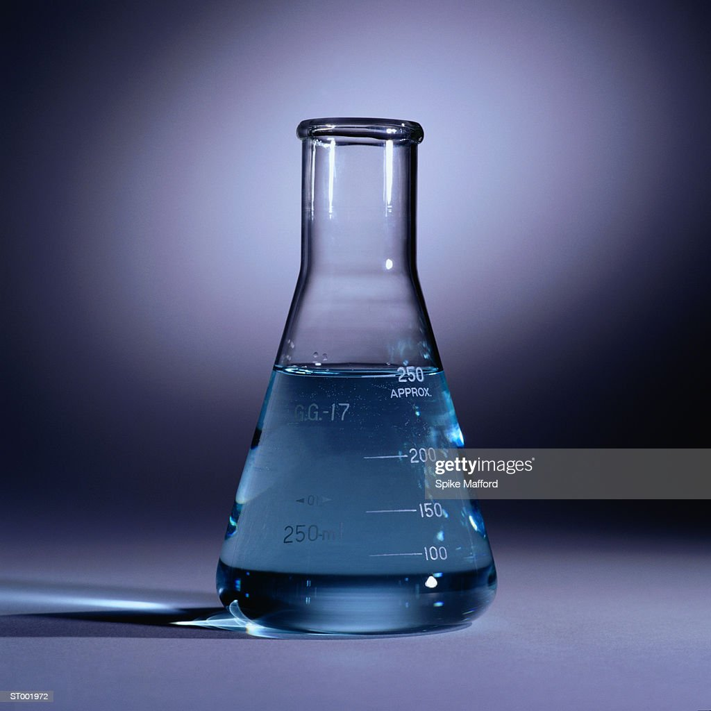 water and conical flask The conical flask was weighted with the balance and the value was recorded - a dropper was used when the water level approached 50 ml mark of the conical flask to prevent solution from overflowing the mark and to ensure accurate reading of volume of solution.