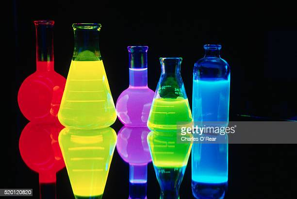 Flasks with Glowing Liquids