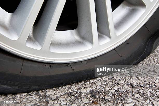 flat as a pancake - flat tire stock pictures, royalty-free photos & images