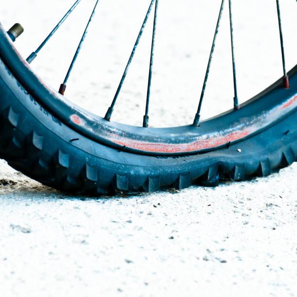 Flat bike tire